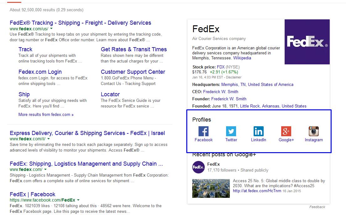 חיפוש fedex בgoogle.com
