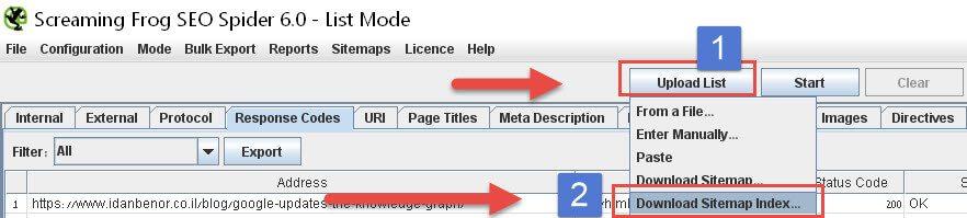 טעינת מפת אתר XML לצפרדע
