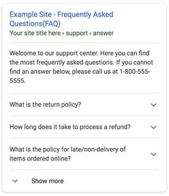 סכמת שאלות ותשובות (FAQ)